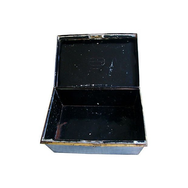 Antique Tin Document Box - Image 4 of 6
