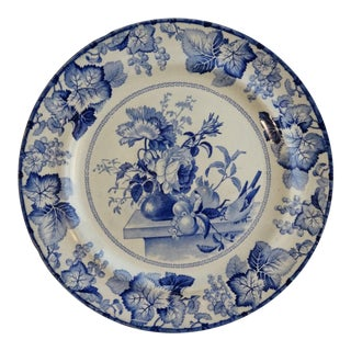Antique Pearlware Blue & White Staffordshire Plate, 1800's