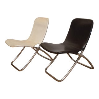 Vintage Mid-Century Modern Folding Chairs - A Pair
