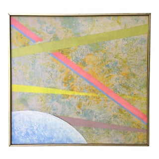 Abstract Geometric Mid-Century Painting