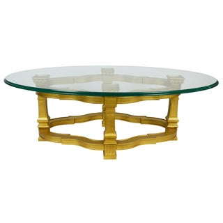 Mid-Century Gilt Coffee Table