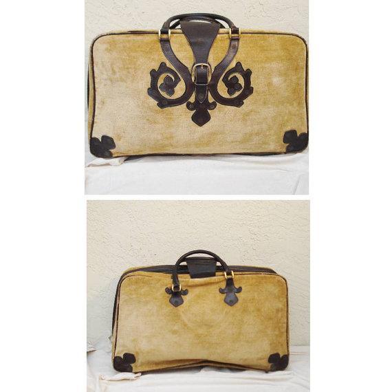 Image of Saks Fifth Avenue Vintage Italian Suitcases - Pair