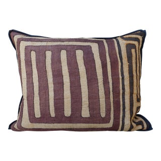 Large Rectangular African Kuba Cloth Pillow