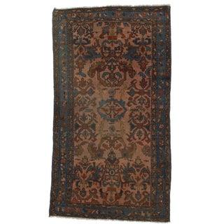"Persian Hamadan Hand-Knotted Wool Rug - 3'1"" x 6'"