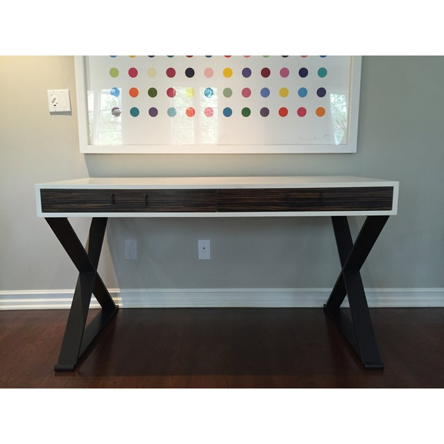 Image of Lawson Fenning Black Steel & Wood Desk