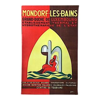 Vintage Mondorf-Les-Bains Original Travel Poster by Gillen