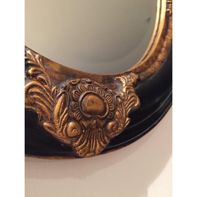 Beveled Black & Gilded Mirror - Image 6 of 8