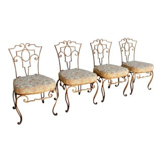 French Style Iron Side Chairs - Set of 4