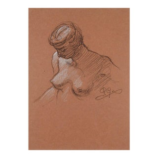 Nude Drawing in Chalk