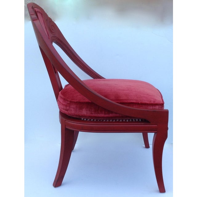 Michael Taylor for Baker Red Spoon Back Chair - Image 7 of 11