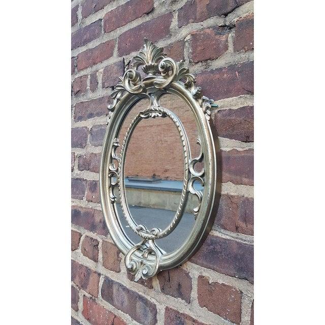 Silver Victorian Mirror - Image 3 of 4