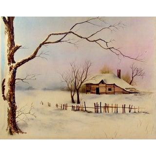Ramiro Garza Winter Homestead Watercolor