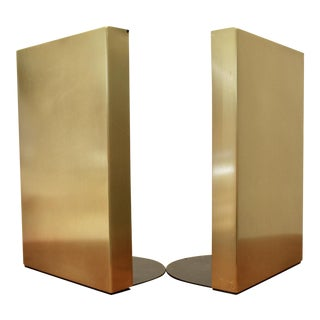 McDonald Satin Brass Bookends - A Pair