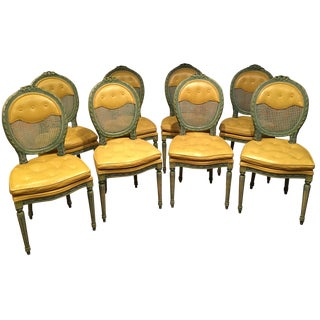 Louis XVI Oval Armless Dining Chairs - Set of 8 Very Comfortable