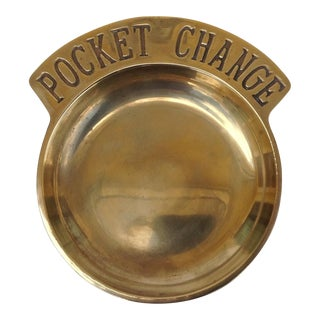 "Brass ""Pocket Change"" Valet Dish"