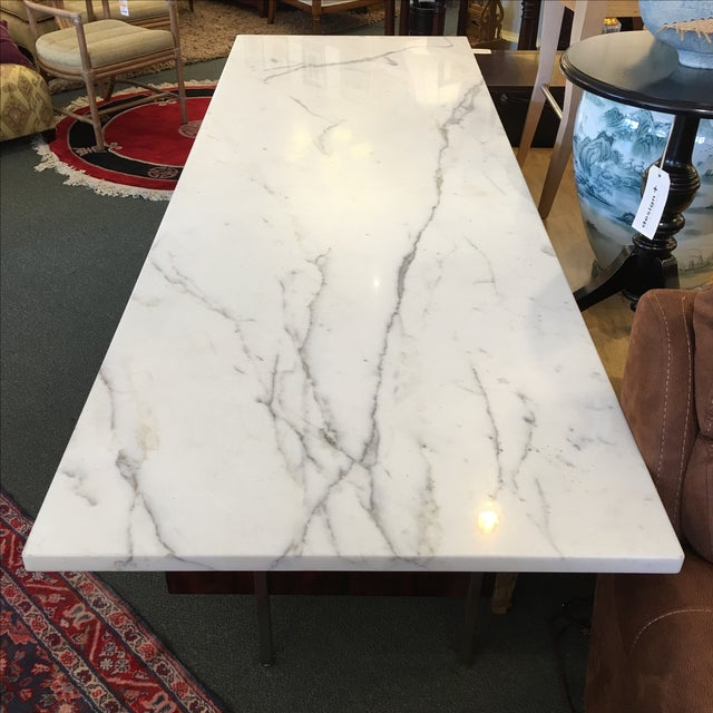 Mid-Century Executive Desk, Marble Top - Image 9 of 11