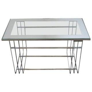 Art Deco Chrome Cocktail Table