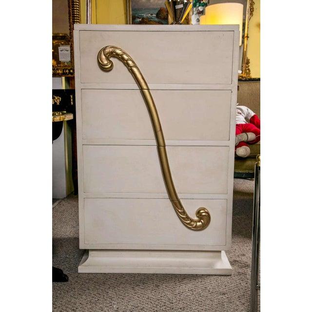 Jansen Hollywood Regency White Painted Dresser - Image 2 of 7