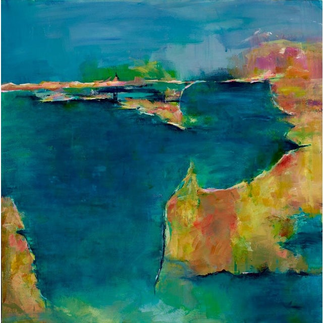 Clover Cove Abstract Seascape Painting - Image 1 of 2