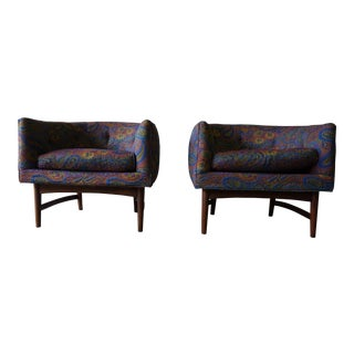 Thayer COGGIN Mid Century Modern LOUNGE CHAIRS, a Pair