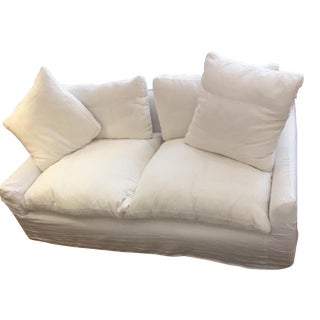 Restoration Hardware White Linen Cloud Sofa