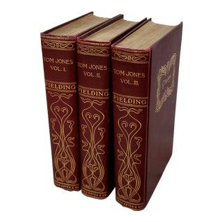 Burgundy & Gold 'History of Tom Jones' Books - Set of 3