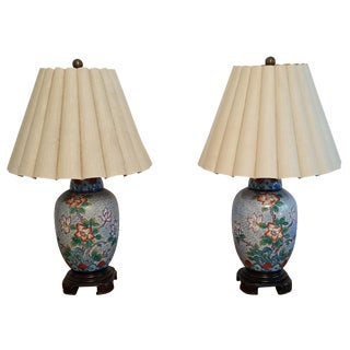 Vintage Wildwood Asian Inspired Lamps - A Pair