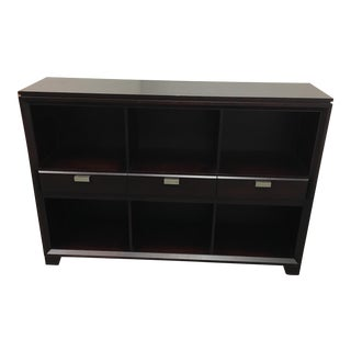 Baronet Espresso Finish Cubby Bookshelf & Drawers