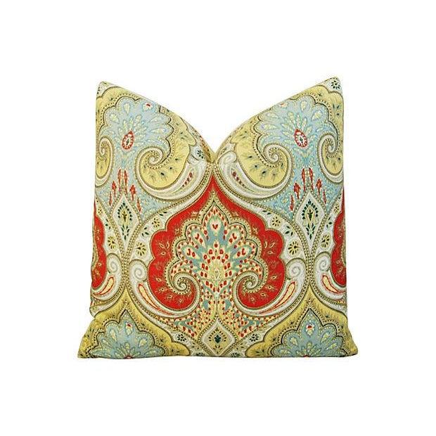 Custom Kravet Latika Festival Linen Pillows - Pair - Image 2 of 7