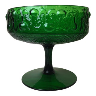 Mid-Century Italian Green Glass Art