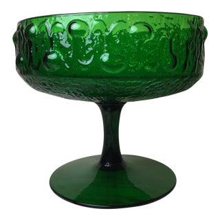 Mid-Century Italian Green Glass Art