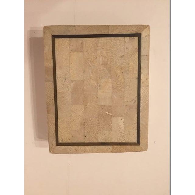 Tessellated Stone Maitland Smith Style Box - Image 3 of 4