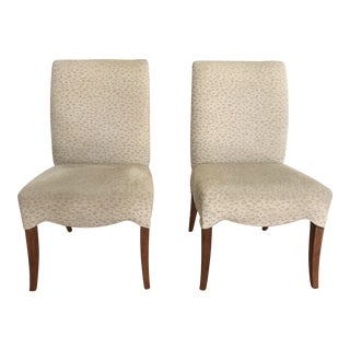Upholstered Dining Chairs - A Pair