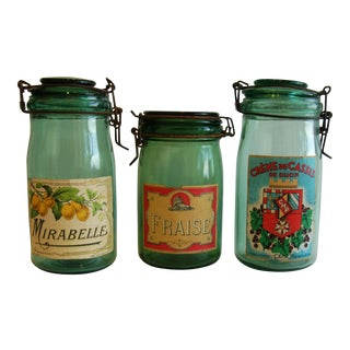 1930s French Canning Preserve Jars - Set of 3
