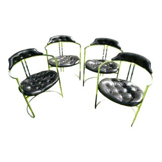 Vintage Mid-Century Daystrom Chrome Chairs - Set of 4