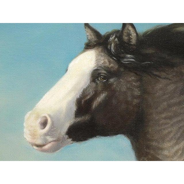 "Ute Simon ""Surprise"" American Bashkir Curly Horse Painting - Image 4 of 9"