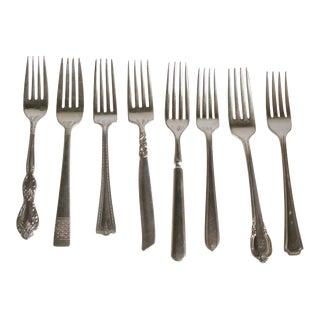 Vintage Silverplate Dinner Forks - Set of 8