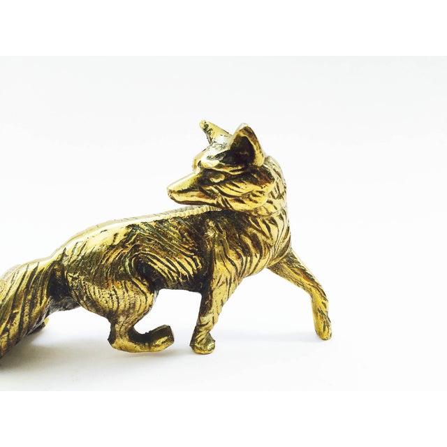 Vintage Brass Fox Statue - Image 4 of 6