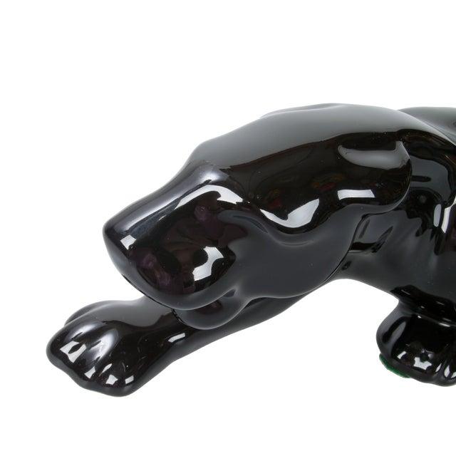 Image of Haeger Black Ceramic Panther