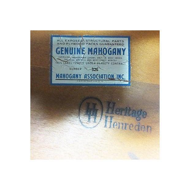 Inlaid Henredon Mahogany Side Tables - Pair - Image 6 of 8