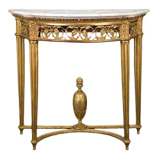 19th Century Louis XVI Style Giltwood Console Table