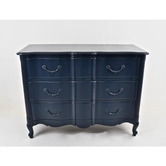 Blue Lacquered French Style Commode - Image 3 of 9