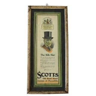 Framed Scott & Co. Silk Hat Ad