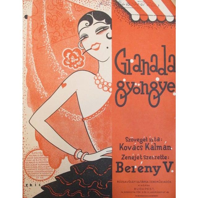1925 Hungarian Music Sheet Josephine Baker - Image 1 of 3