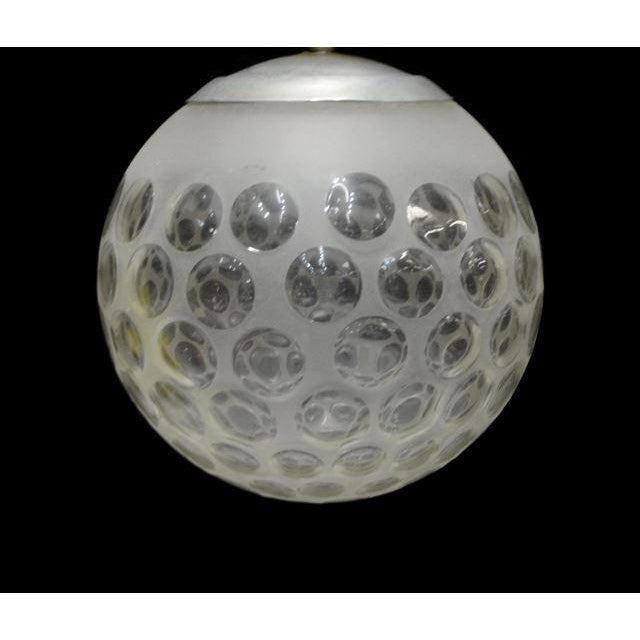 Modern Frosted Globular Italian Chandelier - Image 3 of 4