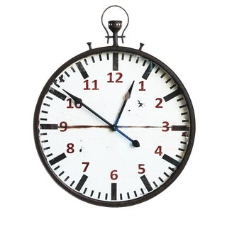 Industrial Stop Watch Wall Clock
