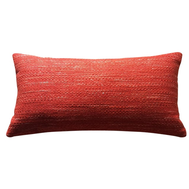 Mid Century Lumbar Pillow : Knoll Mid Century Modern Lumbar Pillow in Paprika Chairish
