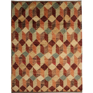 "Hand Knotted Modern Rug by Aara Rugs Inc. - 8'7"" X 7'5"""