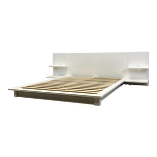 CB2 Modern White Queen Bed Frame
