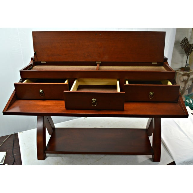 Image of Drop-Front Wood Veneer Server